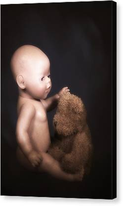 Doll And Bear Canvas Print by Joana Kruse