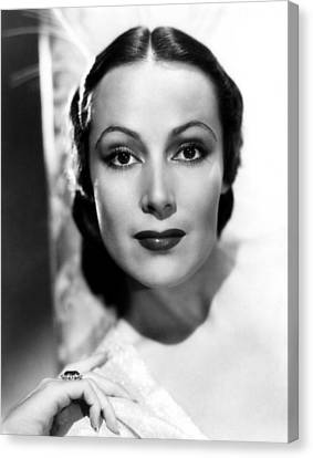 Dolores Del Rio, Ca. 1930s Canvas Print by Everett