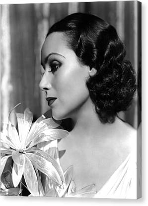 Dolores Del Rio, Portrait Ca. 1934 Canvas Print by Everett