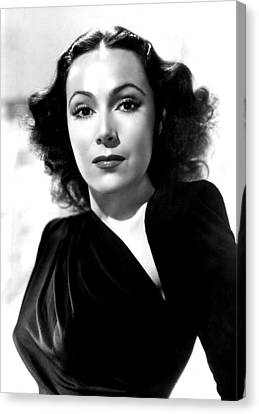 Dolores Del Rio, Portrait Ca. 1940 Canvas Print by Everett