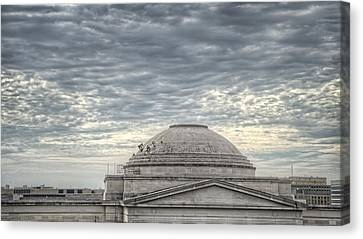Dome Workers Canvas Print by Jim Pearson