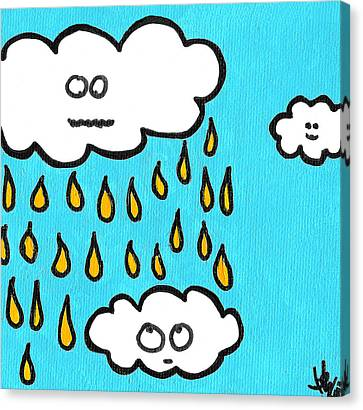 Don't Pee On Me Canvas Print by Jera Sky