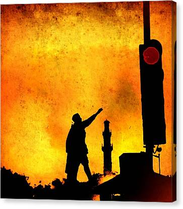 Dont Stop March On Canvas Print by Abhishek Chamaria