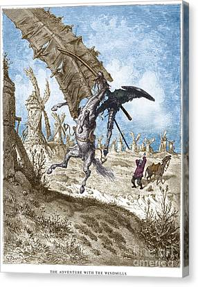 Dor�: Don Quixote Canvas Print by Granger