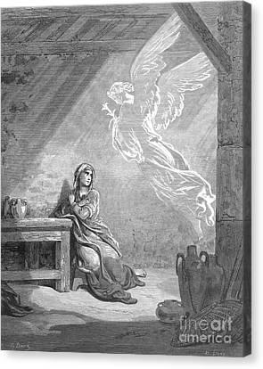 Dor�: The Annunciation Canvas Print by Granger