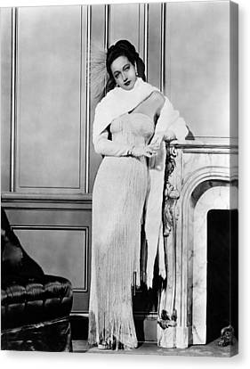 Dorothy Lamour, Ca. Late 1940s Canvas Print by Everett