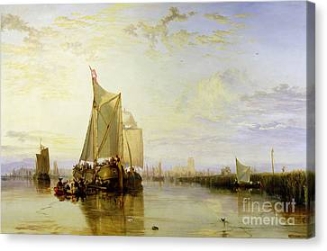 Dort Or Dordrecht - The Dort Packet-boat From Rotterdam Becalmed Canvas Print by Joseph Mallord William Turner
