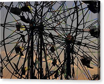 Double Ferris Wheel Canvas Print by David Lee Thompson