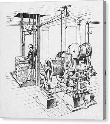 Double Oscillating Steam Engine Canvas Print by Science Source