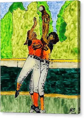 Double Play Canvas Print by Phil Strang