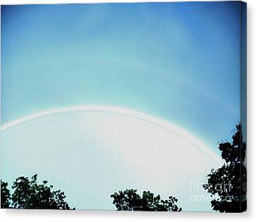 Double Rainbow After The Storm Canvas Print by Marsha Heiken
