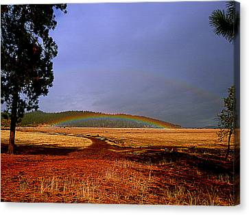 Double Rainbow Ridge Canvas Print by Cindy Wright