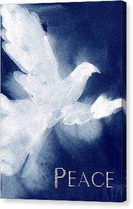 Dove Peace Holiday Card Canvas Print by Beverly Brown