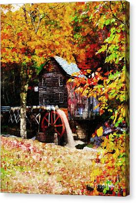 Down By The Old Mill Stream Canvas Print by Lianne Schneider
