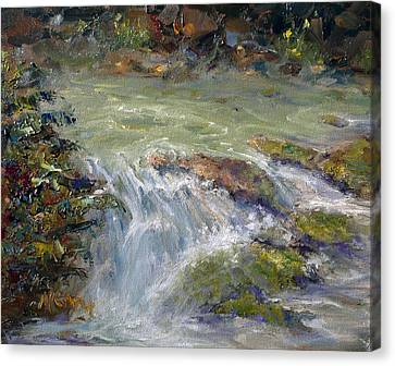 Downstream Canvas Print by Marie Green