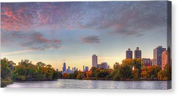Downtown Chicago Sunrise Canvas Print by Twenty Two North Photography