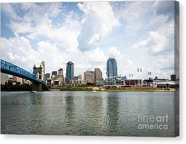 Downtown Cincinnati Skyline Buildings Canvas Print by Paul Velgos