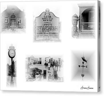 Downtown Elkton Canvas Print by Lorraine Louwerse