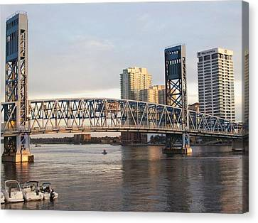 Downtown Jacksonville Canvas Print by Tiffney Heaning