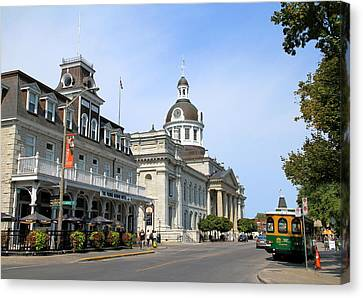 Downtown Kingston Canvas Print by Valentino Visentini