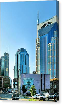 Downtown Nashville II Canvas Print by Steven Ainsworth
