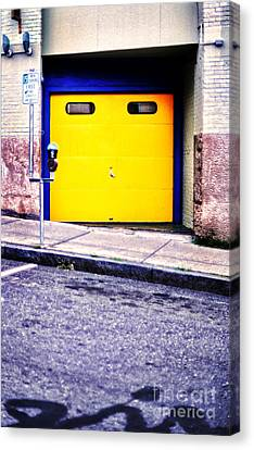 Downtown Northampton - Garage Canvas Print by HD Connelly