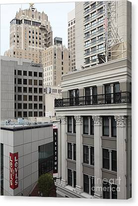 Downtown San Francisco Buildings - 5d19323 Canvas Print by Wingsdomain Art and Photography