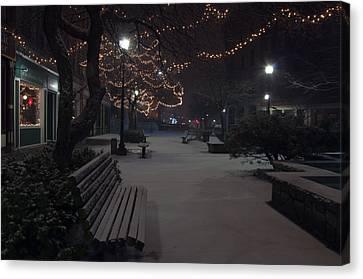 Downtown Winter Canvas Print by Glenn Gordon