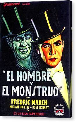 Dr. Jekyll And Mr. Hyde, Aka El Hombre Canvas Print by Everett