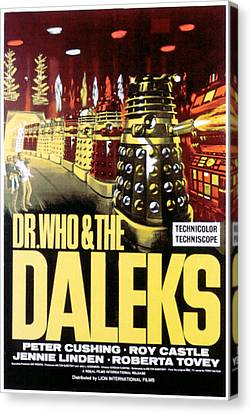 Dr. Who And The Daleks, 1965 Canvas Print by Everett