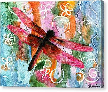 Dragonfly Fairy I Canvas Print by Miriam Schulman