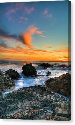 Dramatic Sunset Canvas Print by Chasethesonphotography