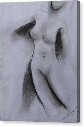 Drawing 001 Canvas Print by Sunil Kumar