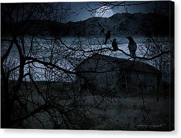Dreadful Silence Canvas Print by Lourry Legarde