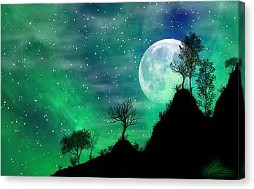 Dreamy Night Canvas Print by Anthony Citro