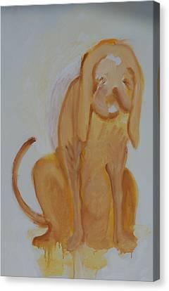Drippy Dog Canvas Print by Jay Manne-Crusoe