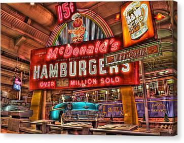 Driving America Dearborn Mi Canvas Print by Nicholas  Grunas