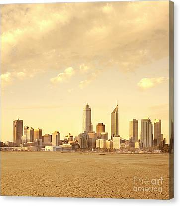 Drought-affected City Canvas Print by Dave & Les Jacobs