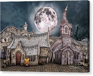 Drunken Village Canvas Print by Jutta Maria Pusl