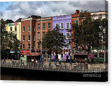Dublin Building Colors Canvas Print by John Rizzuto