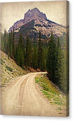 Dubois Mountain Road Canvas Print by Marty Koch