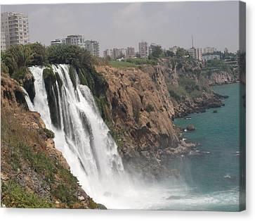 Duden Waterfalls In Turkey Canvas Print by