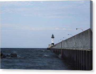 Duluth N Pierhead 34 Canvas Print by John Brueske