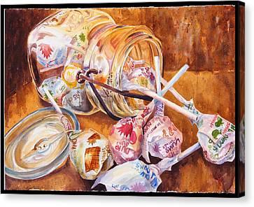 Dum Dum Thief Canvas Print by Jami Childers