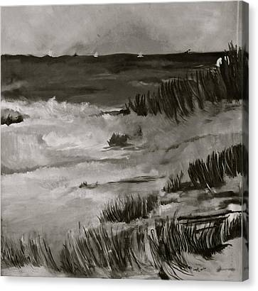 Dunes Canvas Print by Deborah Brier-Andrews