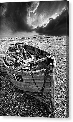 Dungeness Decay Canvas Print by Meirion Matthias