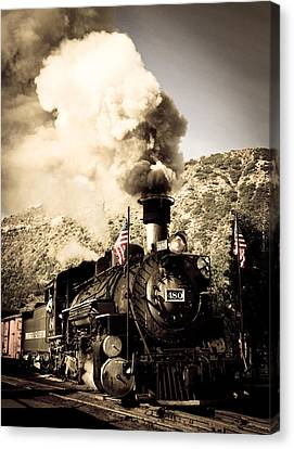 Durango - Silverton Railroad Canvas Print by Adam Pender