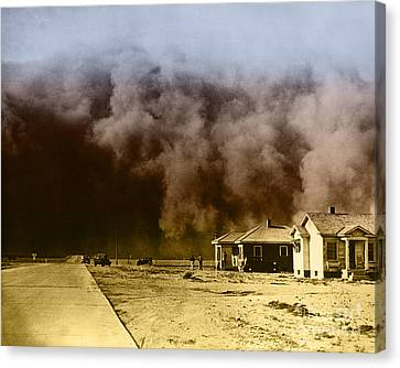 Dust Storm, 1930s Canvas Print by Omikron