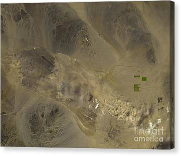 Dust Storm In Southern California Canvas Print by Nasa