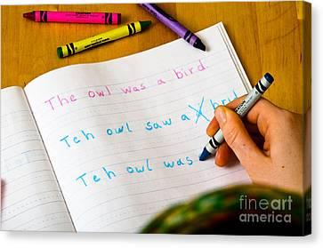 Dyslexia Testing Canvas Print by Photo Researchers Inc
